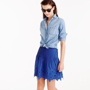 J.Crew Blue Flowing Flower Print Skirt!